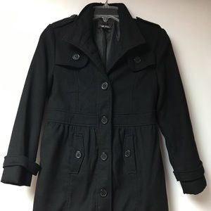Girls Black Pea Coat